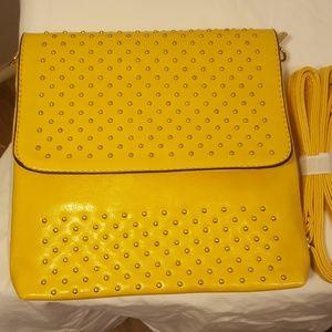 Yellow Gold clutch/ shoulder bag